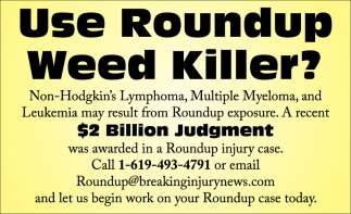 Use Roundup Weed Killer?