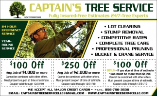 24 Hours Emergency Service Captain S Tree Service