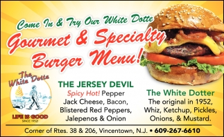 Gourmet & Specialty Burger Menu!