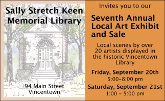 Seventh Annual Local Art Exhibit And Sale
