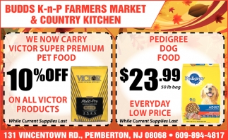 We Now Carry Victor Super Premium Pet Food