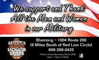 We Support And Thank All The Men And Women In Our Military