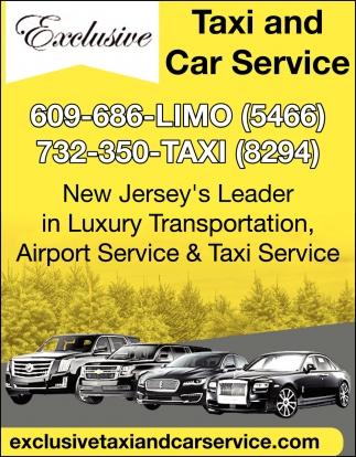 New Jersey's Leader In Luxury Transportation
