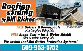 Free Gutters & Downspouts