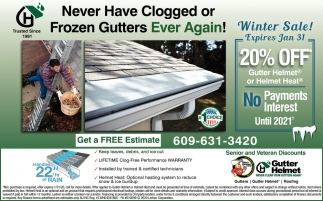 Never Have Clogged Or Frozen Gutters Again!