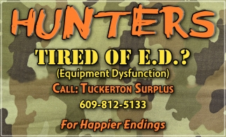 Hunters Tired Of E.D.?