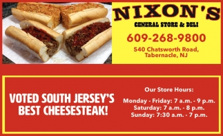 Voted South Jersey's Best Cheesesteak!