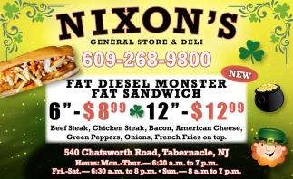 Fat Diesel Monster Fat Sandwich