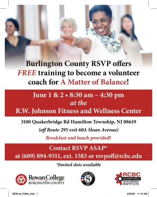 Free Training To Become A Volunteer Coach For A Matter Of Balance!