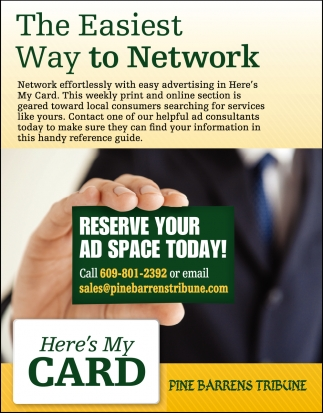 Reserve Your AD Space Today!