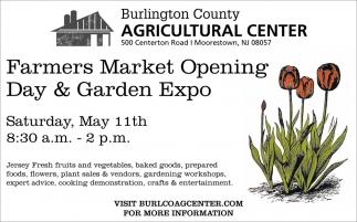 Farmers Market Opening Day & Garden Expo
