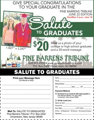 Salute To Graduates
