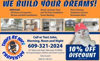 We Build Your Dreams